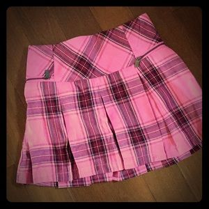 Pink & Burgundy Pleated Skirt by Justice *NWT*